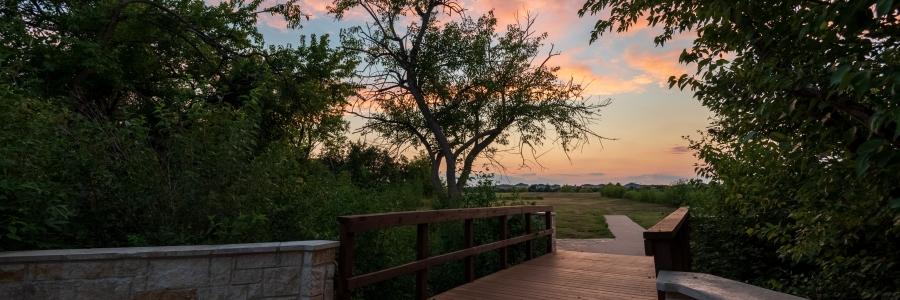 Sunset at a Foot Bridge