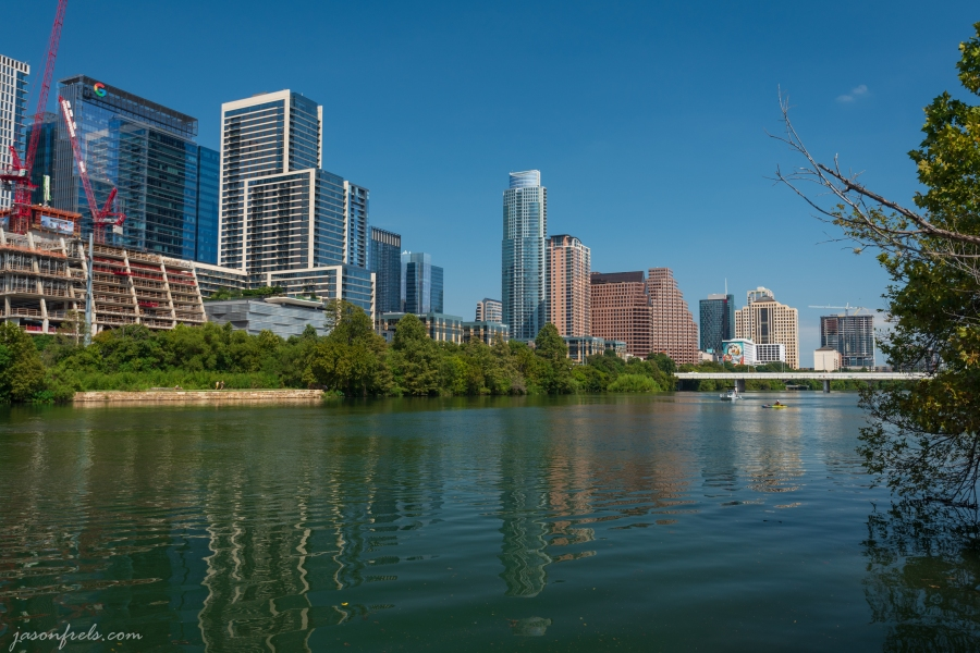 Austin from the Shore of Lady Bird Lake