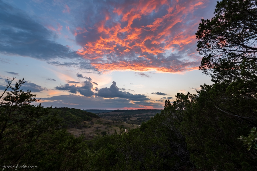 Sunset at Balcones Canyonlands