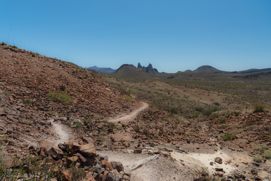 The Mule Ears Hiking Trail at Big Bend