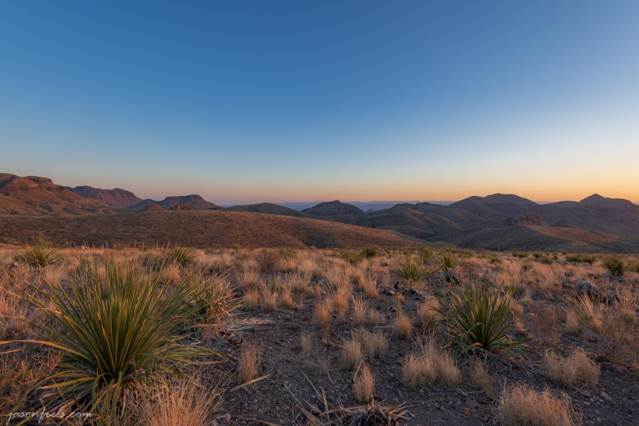 Sunset from Sotol Vista in Big Bend