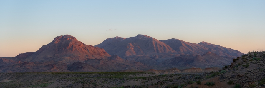 Desert Mountains in Morning Sunlight