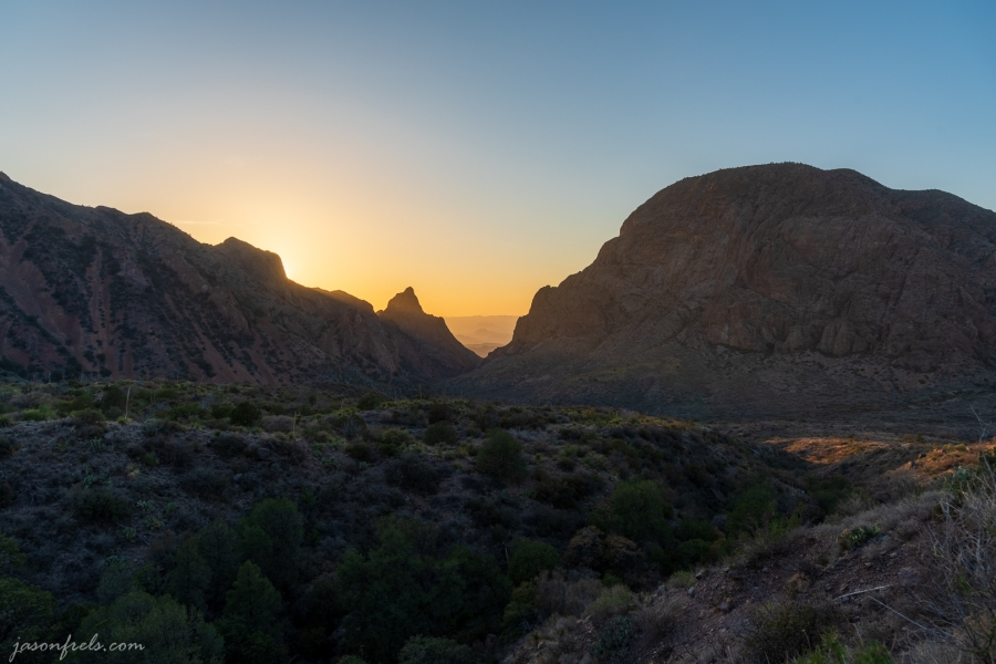 Sunset at the Window in Big Bend National Park